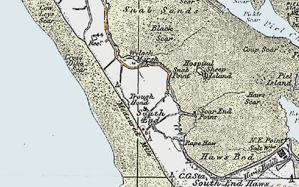 Old map of Wylock Marsh in 1924