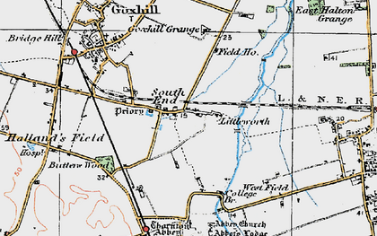 Old map of South End in 1924