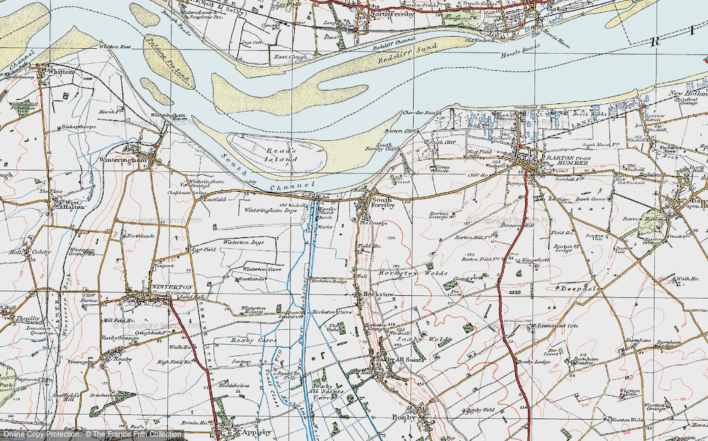 Old Map of South Ferriby, 1924 in 1924