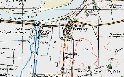 Old map of South Ferriby in 1924