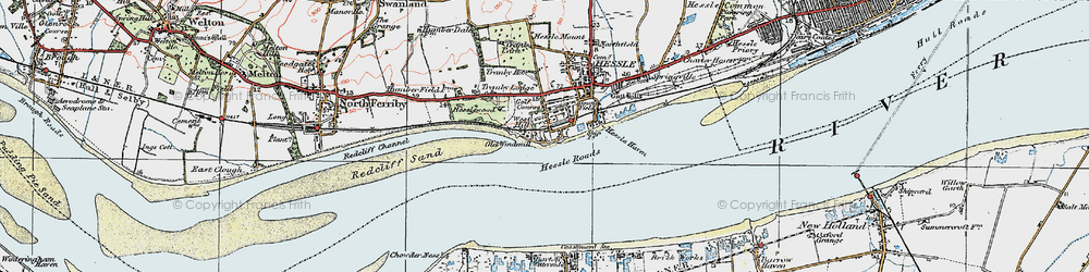 Old map of Yorkshire Wolds Way in 1924