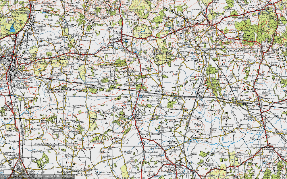 Old Map of South Godstone, 1920 in 1920