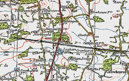 Old map of South Godstone in 1920