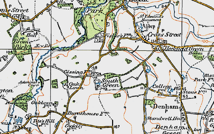 Old map of Admiral's Carr in 1921