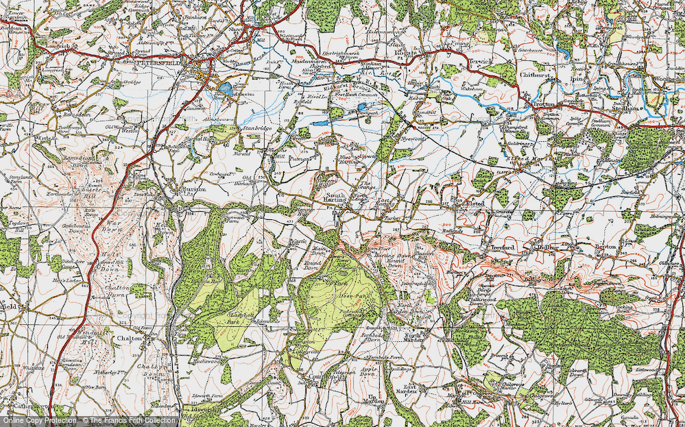 Old Map of South Harting, 1919 in 1919
