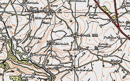Old map of South Hill in 1919