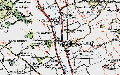 Old map of Abel Grange in 1925