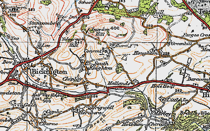 Old map of Wrigwell in 1919