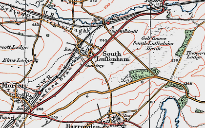Old map of South Luffenham in 1922