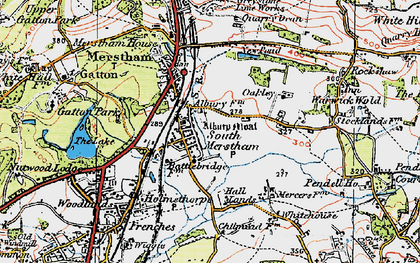Old map of South Merstham in 1920