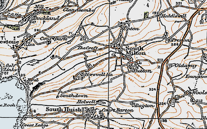 Old map of Whitlocksworthy in 1919