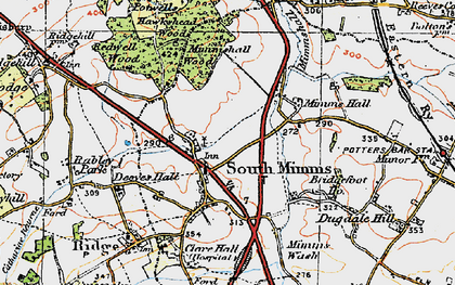 Old map of South Mimms in 1920