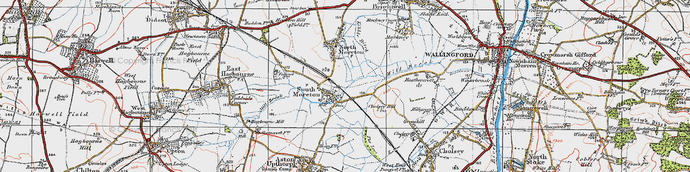 Old map of South Moreton in 1919
