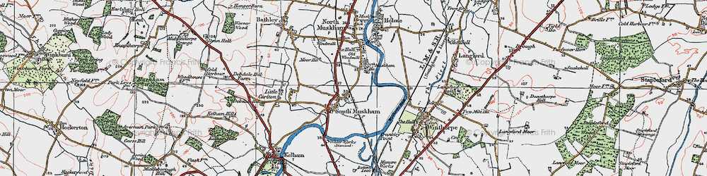 Old map of Winthorpe Lake in 1923