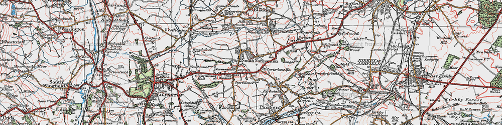 Old map of South Normanton in 1923