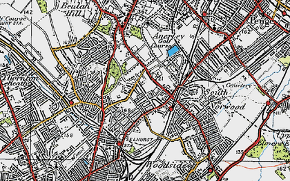 Old map of South Norwood in 1920