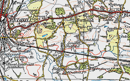 Old map of South Nutfield in 1920