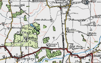 Old map of South Ockendon in 1920