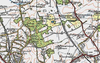 Old map of South Oxhey in 1920