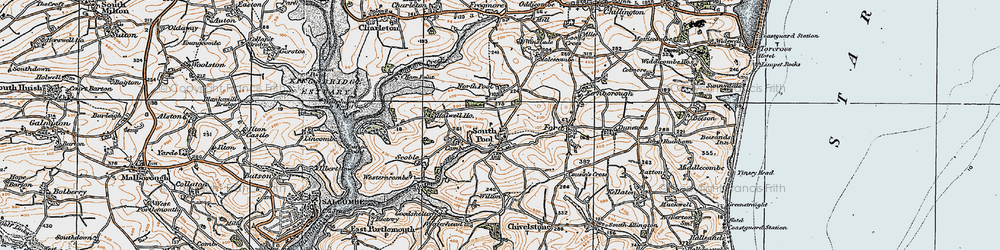 Old map of South Pool in 1919