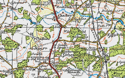 Old map of Wilding Wood in 1920