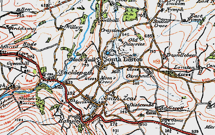 Old map of Willey in 1919