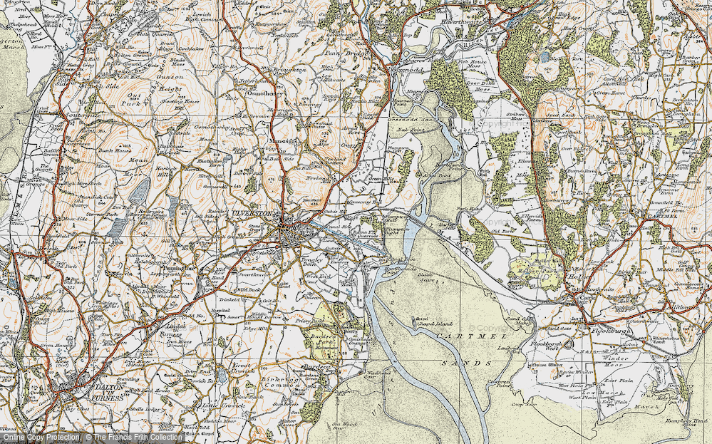 Old Map of South Ulverston, 1925 in 1925