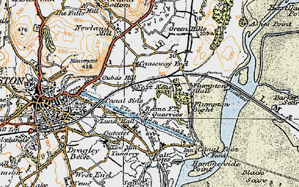Old map of South Ulverston in 1925