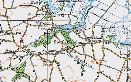 Old map of South Walsham in 1922