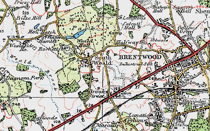 Old map of Langtons in 1920