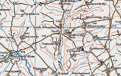 Old map of South Wheatley in 1919