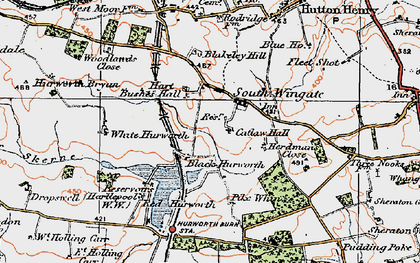 Old map of White Hurworth in 1925