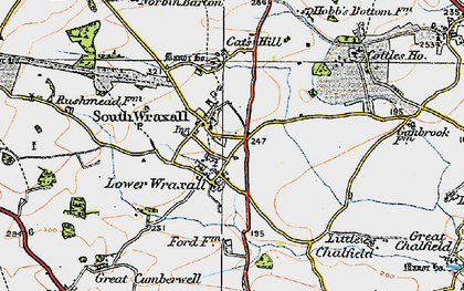 Old map of South Wraxall in 1919