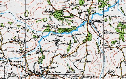 Old map of Lewmoor in 1919