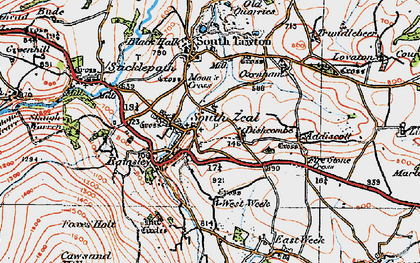 Old map of West Wyke in 1919