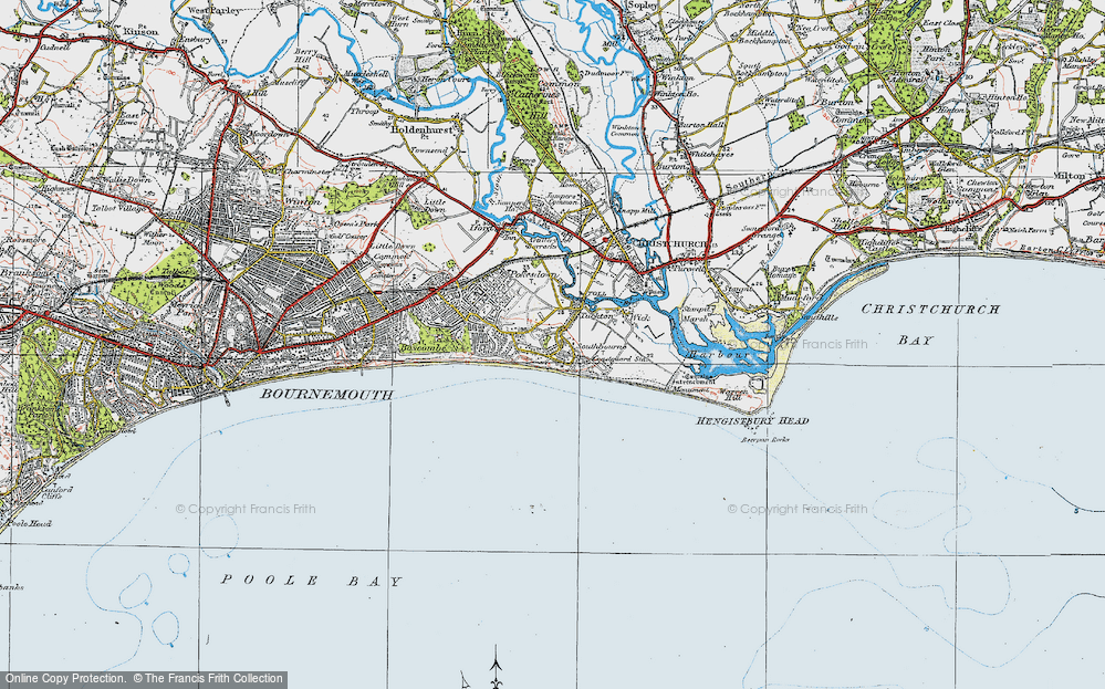 Old Map of Southbourne, 1919 in 1919