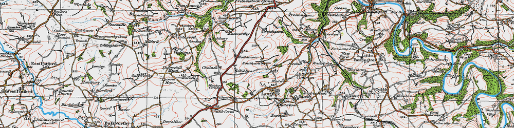 Old map of West Wooda in 1919