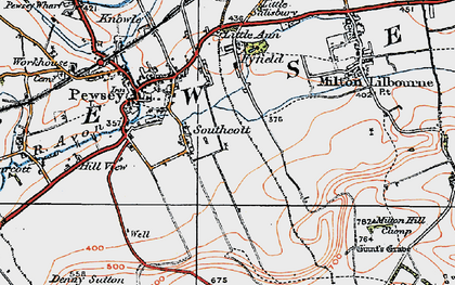 Old map of Winter's Penning in 1919