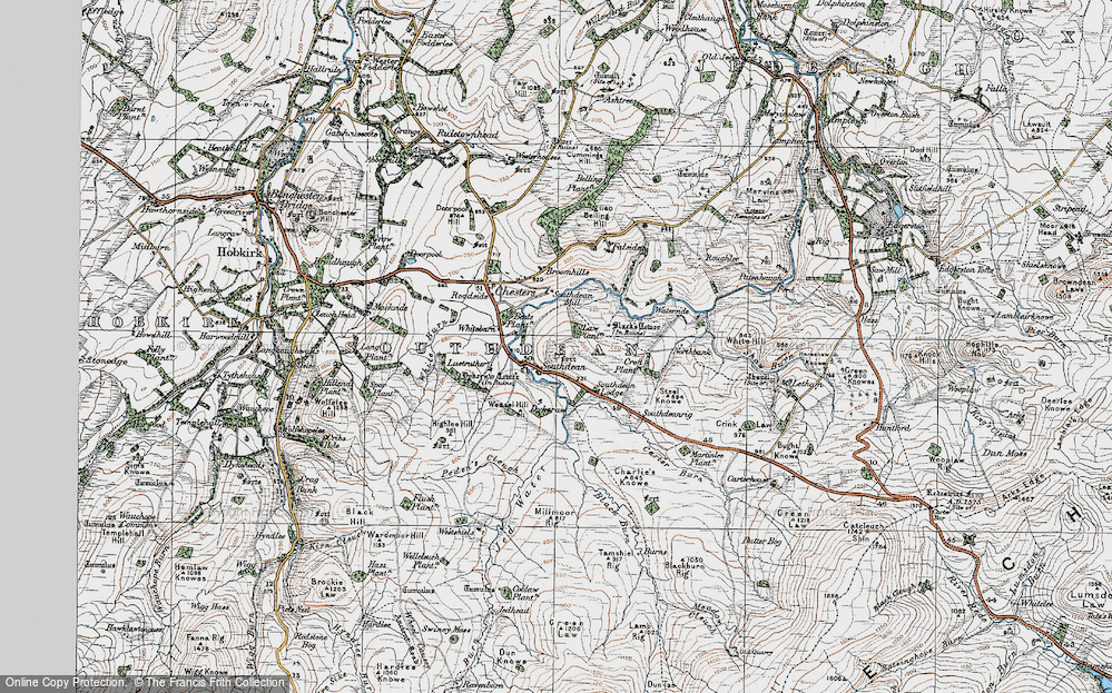 Old Map of Historic Map covering Law Plantn in 1926
