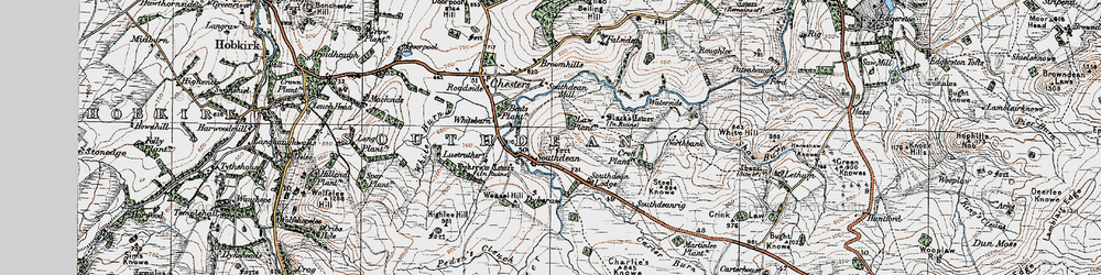 Old map of Law Plantn in 1926