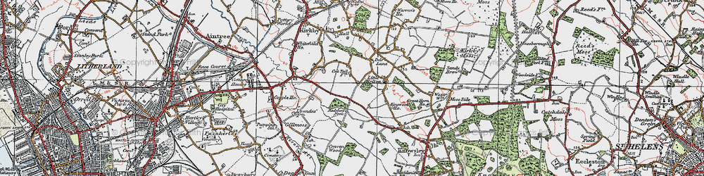 Old map of Southdene in 1923
