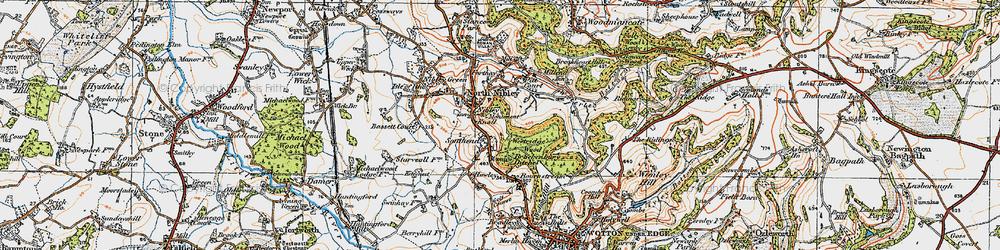 Old map of Westridge Wood in 1919