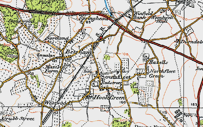 Old map of Vagniacis in 1920
