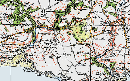 Old map of Southgate in 1923