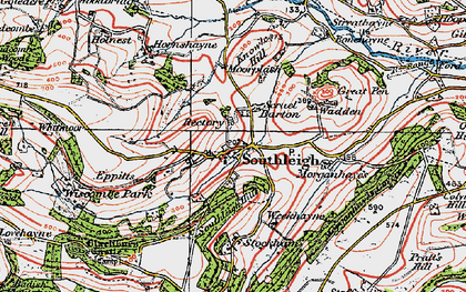 Old map of Wiscombe Park in 1919