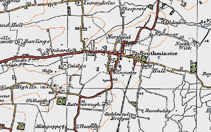 Old map of Southminster in 1921
