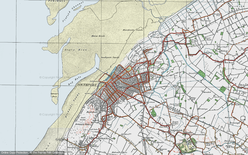 Old Map of Southport, 1924 in 1924