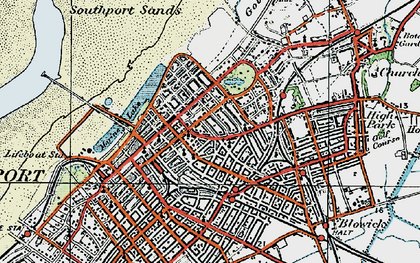 Old map of Southport in 1924