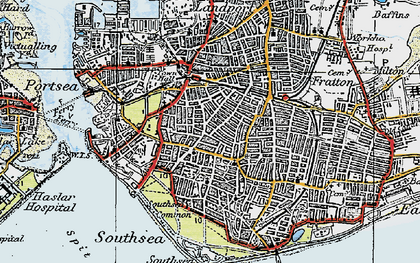 Old map of Southsea in 1919