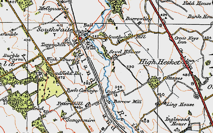 Old map of Ling Cotts in 1925